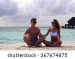 he and she on the beach | Shutterstock . vector #367674875