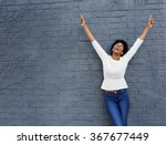 portrait of a cheerful african... | Shutterstock . vector #367677449