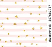 gold glittering stars confetti... | Shutterstock .eps vector #367681757