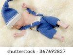 newborn baby with sweet hat   Shutterstock . vector #367692827
