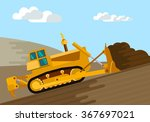 dozer removal of the top ground ... | Shutterstock .eps vector #367697021