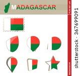 madagascar flag set  flag set... | Shutterstock . vector #367699091