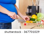detail of a pregnant woman... | Shutterstock . vector #367701029