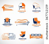 orange and blue furniture logo... | Shutterstock .eps vector #367712159