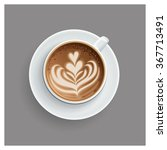 cappuccino cup with hearts... | Shutterstock .eps vector #367713491