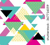 seamless geometric pattern in... | Shutterstock .eps vector #367716059