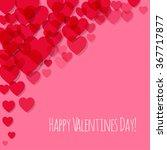 valentine's day postcard pink... | Shutterstock .eps vector #367717877