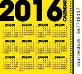 2016 year calendar on the... | Shutterstock .eps vector #367718117