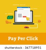 pay per click concept vector... | Shutterstock .eps vector #367718951