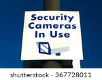 security cameras in use sign in ... | Shutterstock . vector #367728011