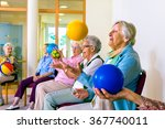 group of happy senior ladies... | Shutterstock . vector #367740011