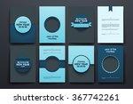 vector brochures with doodles... | Shutterstock .eps vector #367742261
