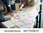 business team meeting project... | Shutterstock . vector #367745819