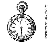 Antique Pocket Watch. Vector...