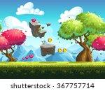 seamless background flying... | Shutterstock .eps vector #367757714