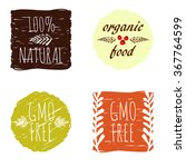 gmo free  organic food and... | Shutterstock .eps vector #367764599