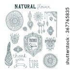 set of ornamental boho style.... | Shutterstock .eps vector #367765835