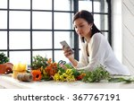 Home  Gardening. Woman With...