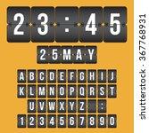 vector scoreboard clock. black... | Shutterstock .eps vector #367768931