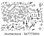 hand drawn doodle seamless... | Shutterstock .eps vector #367773041