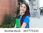 young caucasian female student...   Shutterstock . vector #367775141
