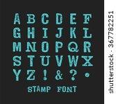 vector alphabet. modern stamps... | Shutterstock .eps vector #367782251