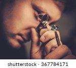 portrait of a jeweler during...   Shutterstock . vector #367784171