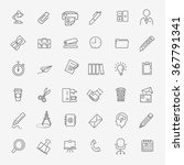 outline web icon set   office | Shutterstock .eps vector #367791341
