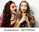 two stylish sexy hipster girls... | Shutterstock . vector #367794545