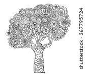Tree. Zentangle Pattern For...