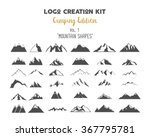 logo creation kit bundle.... | Shutterstock .eps vector #367795781