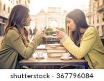 two friends watching their... | Shutterstock . vector #367796084