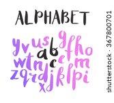 female lettering alphabet. hand ... | Shutterstock .eps vector #367800701