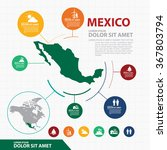 mexico map infographic | Shutterstock .eps vector #367803794