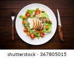 caesar salad with chicken and... | Shutterstock . vector #367805015