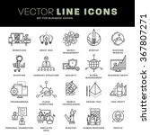 thin line icons set. business... | Shutterstock .eps vector #367807271