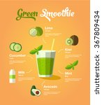healthy natural food green... | Shutterstock .eps vector #367809434