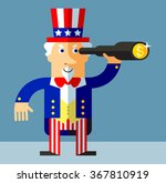 uncle sam  find money by... | Shutterstock .eps vector #367810919