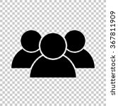 people    black vector icon | Shutterstock .eps vector #367811909