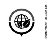 eco globe   black vector icon ... | Shutterstock .eps vector #367835135