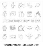 romantic icons set. valentine's ... | Shutterstock .eps vector #367835249