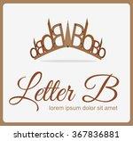 letter b crown logo vector... | Shutterstock .eps vector #367836881