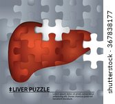 liver puzzle. sign medical.... | Shutterstock .eps vector #367838177