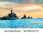 military navy ships in a sea... | Shutterstock . vector #367841471