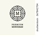 elegant line art logo and... | Shutterstock .eps vector #367842704