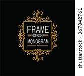 elegant line art frame  logo... | Shutterstock .eps vector #367842761