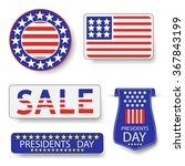 vector presidents day icons | Shutterstock .eps vector #367843199