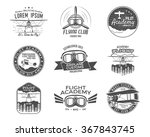vintage airplane emblems.... | Shutterstock .eps vector #367843745