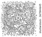 cartoon vector hand drawn... | Shutterstock .eps vector #367844645