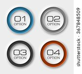 infographic button design... | Shutterstock .eps vector #367848509
